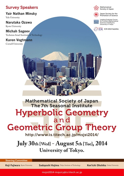 The 7th MSJ-SI: Hyperbolic Geometry and Geometric Group Theory